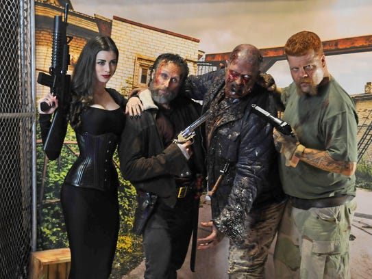 Cosplay actress and model LeeAnna Vamp with Cecil Garner