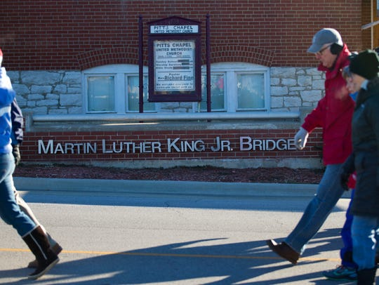 Thousands march together across the Martin Luther King