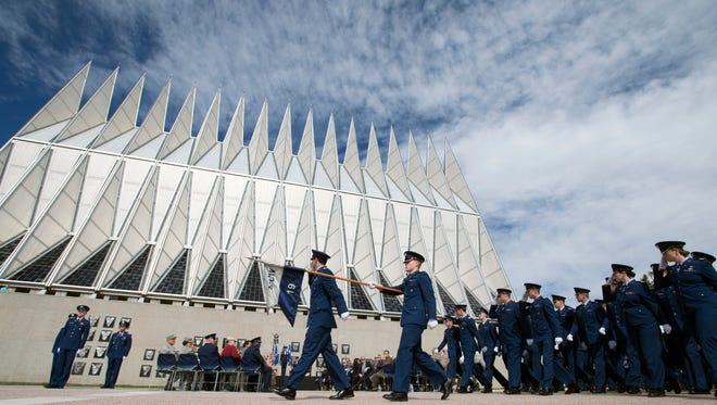 The Air Force Academy is pictured in 2017.
