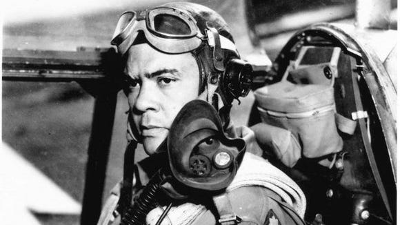 Benjamin O. Davis, who commanded the Tuskegee Airmen,