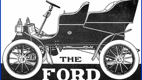 The following is an illustration of Henry Ford's first successful automobile, from an advertisement in the February 1904 issue of The Automobile.