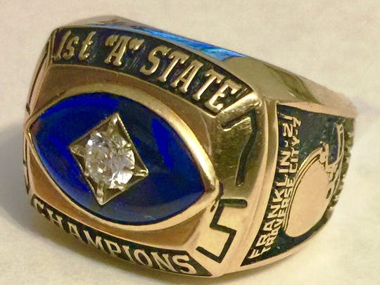 Tim Hollandsworth still wears his state championship ring proudly.