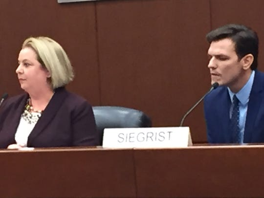 Republican Linda Obrec and Democrat Michael Siegrist