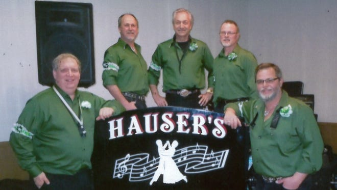 Hauser's Hotshots, from left, are Mark Dombrowski, Todd Wian, Gary Hauser, Craig Wian, and Kevin Krueger.