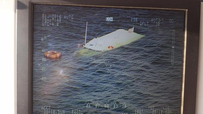A boat sank Wednesday near Bloodsworth Island.