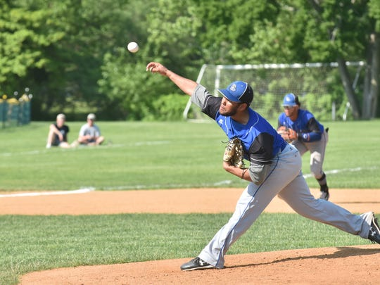 Passaic Tech Marcus Eusebio throws at Ridgewood in