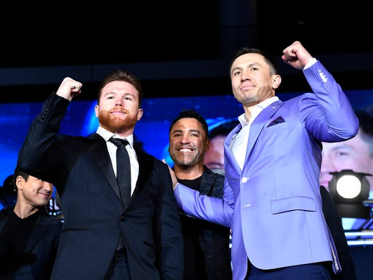 Canelo Alvarez v Gennady Golovkin Press Conference - Los Angeles