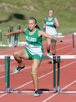 Virgin Valley''s Abbie Barnum placed in the 100 and 300 hurdles at last year's state track and field meet.