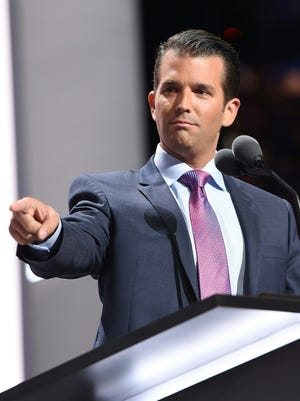 Donald Trump Jr. at the Republican National Convention in Cleveland on July 19, 2016.
