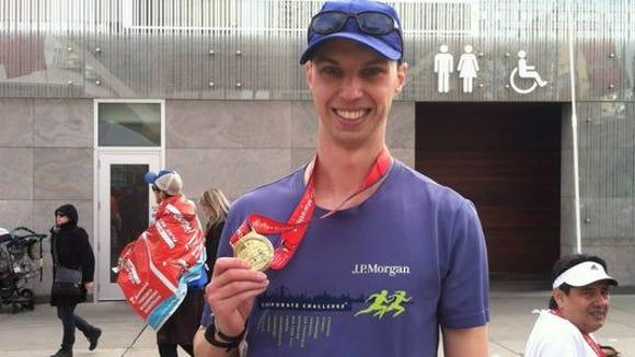 Enjoying the feeling of being a marathoner after the Scotiabank Toronto Waterfront Marathon.