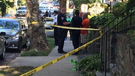 Police investigate a shooting involving NYPD officers near Beekman and Tecumseh avenues in Mount Vernon on Aug. 28. A bystander, Felix Kumi, 61, of Mount Vernon, was fatally injured.