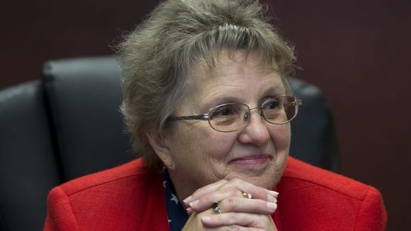 State schools Superintendent Diane Douglas skipped Tuesday's Board of Education meeting.