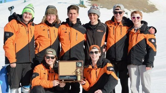 The Brighton boys ski team took fifth at the Division 1 state finals on Monday.