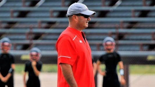 Ballinger coach David Jones, pictured here during an early season practice in 2016, has informed Ballinger ISD of his intention to resign.
