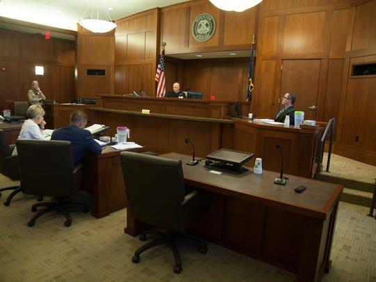 Psychologist Tim Kockler testifies during the preliminary