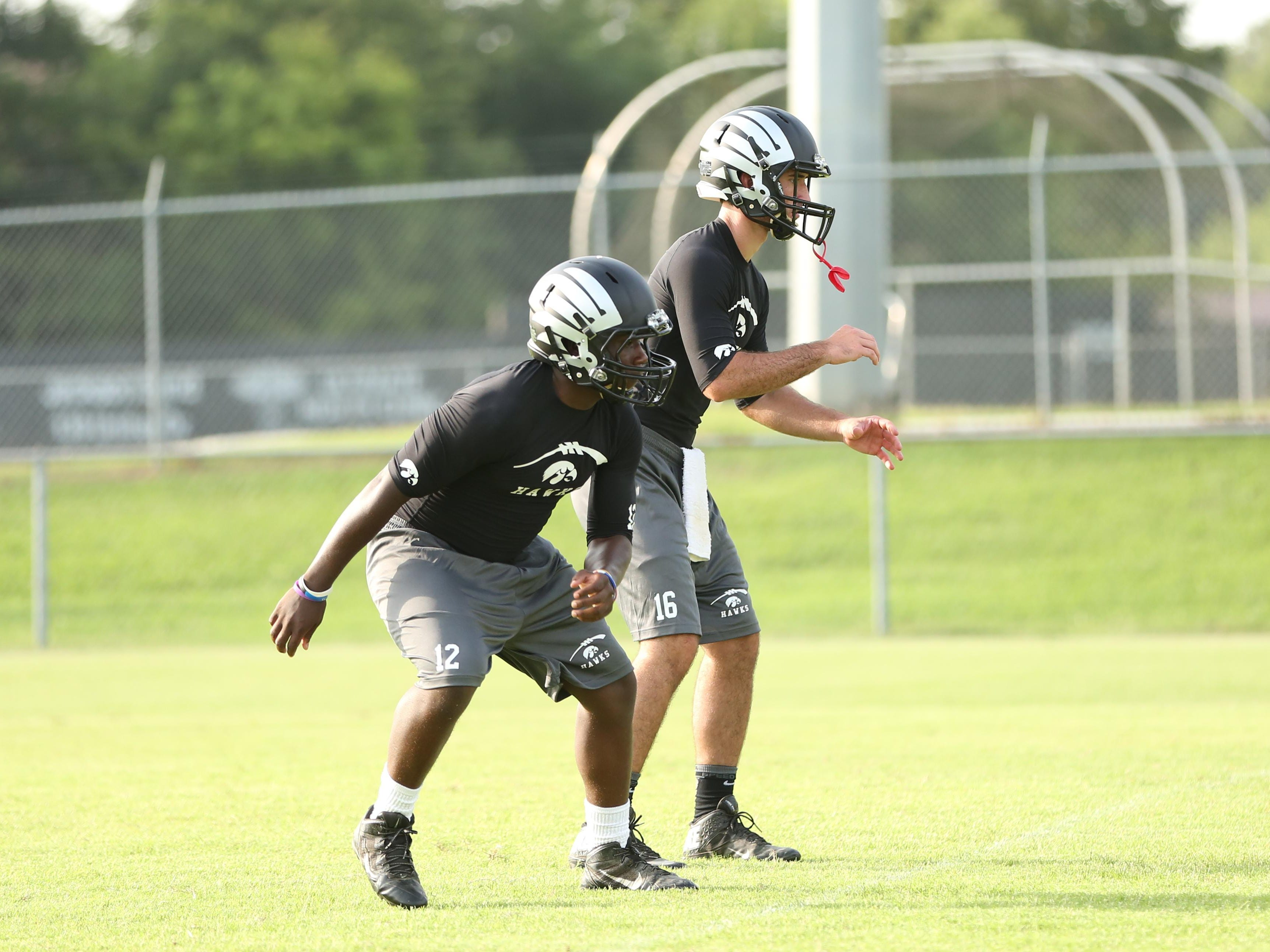 South Side's Cade Willingham takes a snap in a 7-on-7 scrimmage on Monday at South Side.