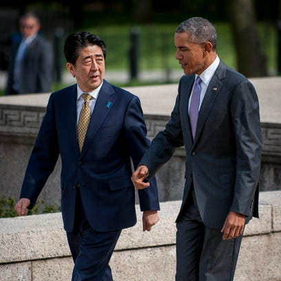 President Obama and Shinzo Abe discussed trade last