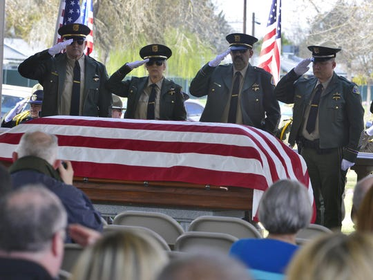 Hundreds of law enforcement officers gathered Monday in Visalia to pay their respects to Tulare County Sheriff's deputy Scott Ballantyne, who died alongside sheriff's pilot James Chavez on Feb. 10 in a plane crash near Springville.