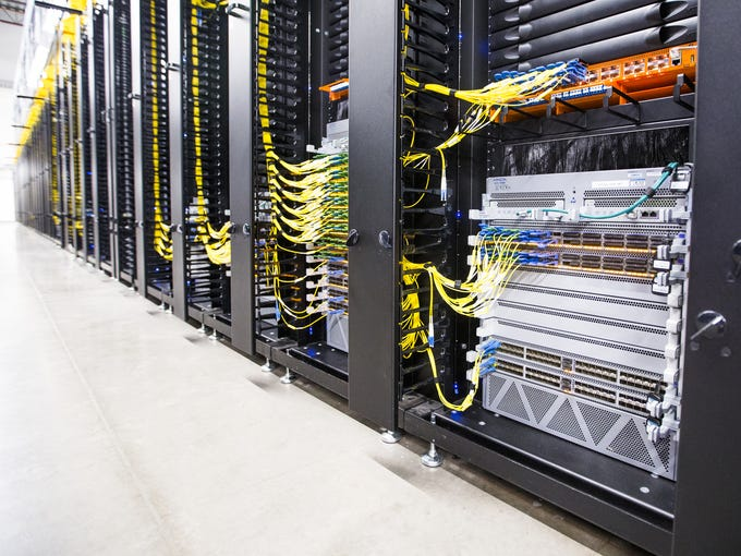 Servers in the Apple Data Center in Mesa on Aug. 14,