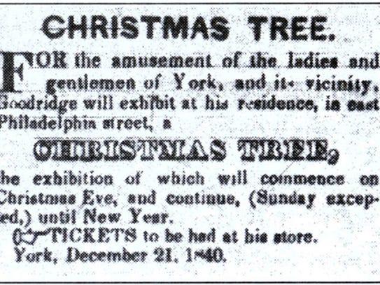 This advertisement by freed slave William C. Goodridge