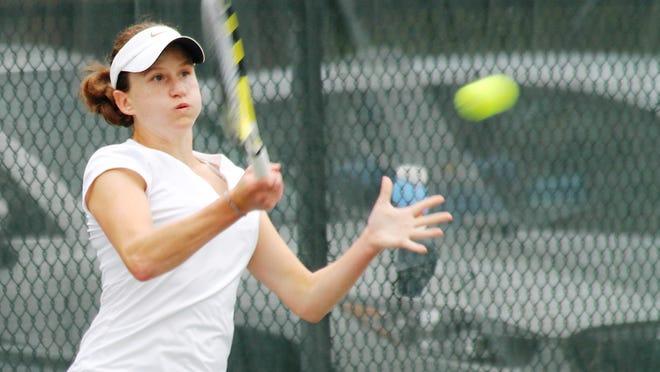 Marie Matrka won her sixth Thomas E. Price Met women's tennis singles tournament in July of 2014.