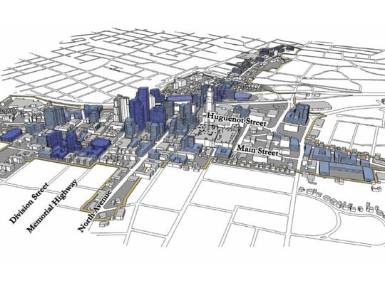 The image of New Rochelle's revitalized downtown.