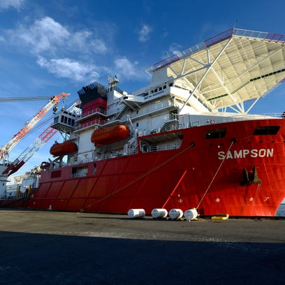 A second subsea construction vessel, Sampson, has docked