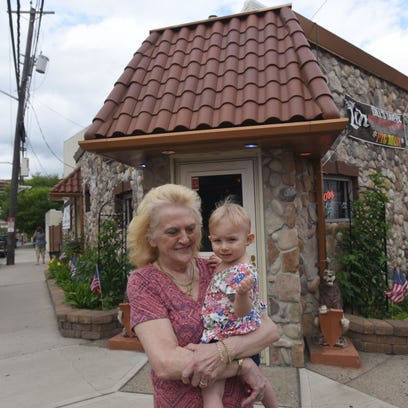 Barbara Lupica with her granddaughter Sophia, in front