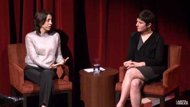 "Laura Ricciardi (left) and Moira Demos talk ""Making a Murderer."""
