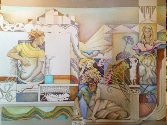 A detail of the proposed design for the ArtWorks mural