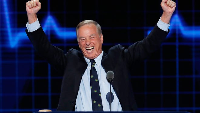 In this July 26, 2016, file photo, former Vermont Gov. Howard Dean speaks during the second day of the Democratic National Convention in Philadelphia. Dean is announcing a bid to head up the Democratic party, a post he held during the Bush administration, in the wake of Donald Trump's victory in Tuesday's election.