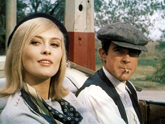 "Faye Dunaway and Warren Beatty are ""Bonnie and Clyde."""