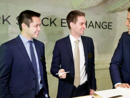 EPA USA NEW YORK SNAP INC IPO AT NYSE EBF MARKETS AND EXCHANGES USA NY