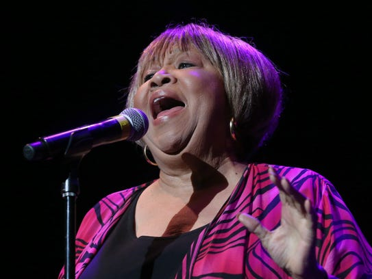 Mavis Staples performs her opening number.