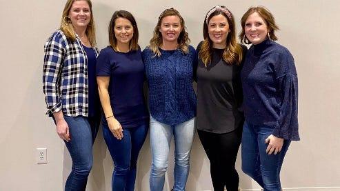 Pictured left to right: Julia Holland, Rachel Ervin, Heather Acock, Lauren Simpson, and Kristen Dude.