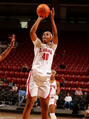 Jasmine Walker scored 15 points in Alabama's 80-61 win over UCF in the second round of the WNIT.