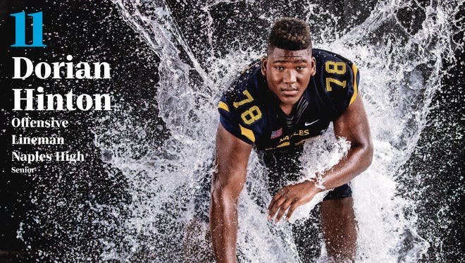 Naples lineman Dorian Hinton is No. 11 on The Big 15, the countdown of the area's top high school football recruits compiled by the Naples Daily News and The News-Press.