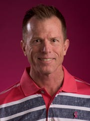 Doug Watkins with the Autauga County Relay for Life Men in Pink fundraiser is shown in Montgomery, Ala. on Tuesday October 11, 2016.