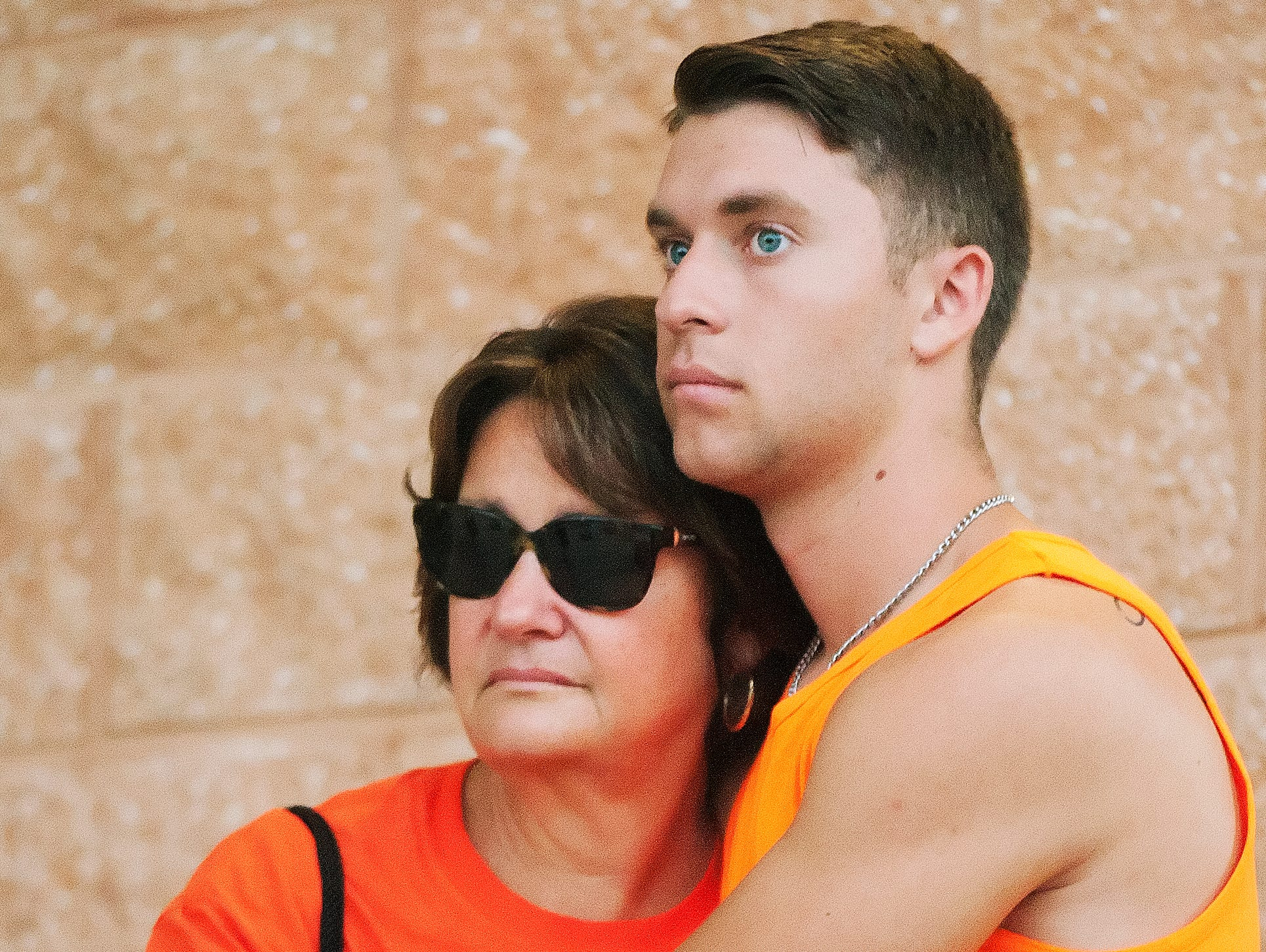 Susan Sommer, wife of the late Jeff Sommer and their son Adam Sommer attend the Estero DDD Invitational at Estero Community Park.