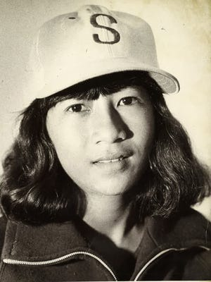 Cil Fernandez, shown in this 1978 file photo, was the first girl to play Little League Baseball on Guam. A pitcher and shortstop, she was named to the island's Little League All-Star team.