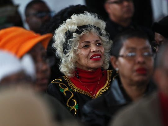 February 10, 2018 - Linda Williams listens to a speaker