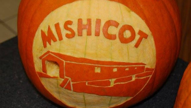 Decorated and carved pumpkins were entered into one of the many pumpkin contests held during Pumpkinfest in Mishicot.