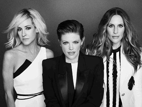 The Dixie Chicks, Martie Maguire, Natalie Mains and Emily Robison, from left, will perform at Hersheypark Stadium June 24.