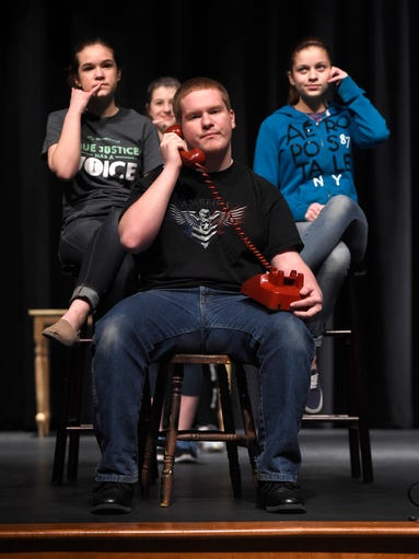 Annville-Cleona high school actor Josh Custer sits