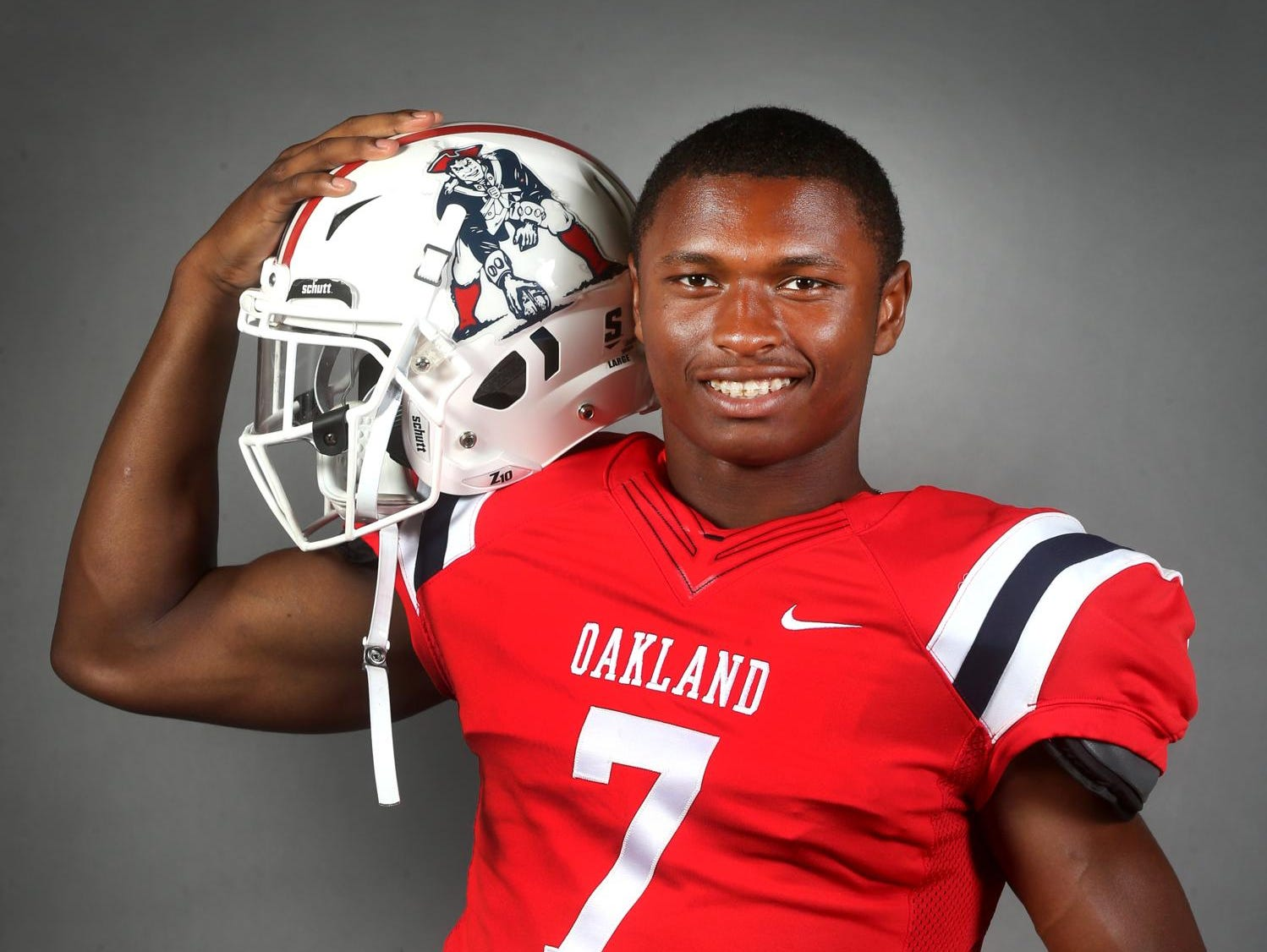 Oakland High School star JaCoby Stevens is the Midstate's top college football prospect.