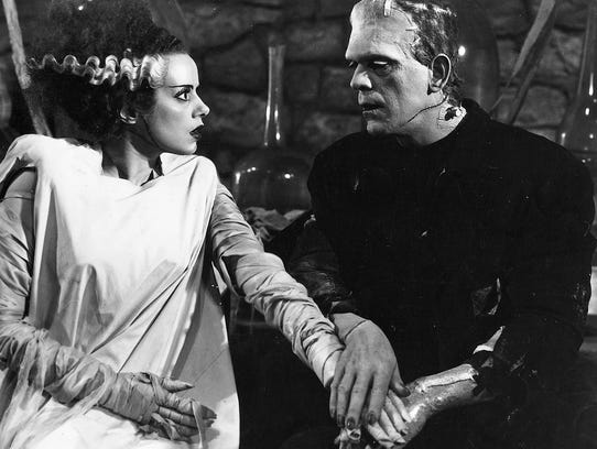 Elsa Lanchester and Boris Karloff pulled off perhaps
