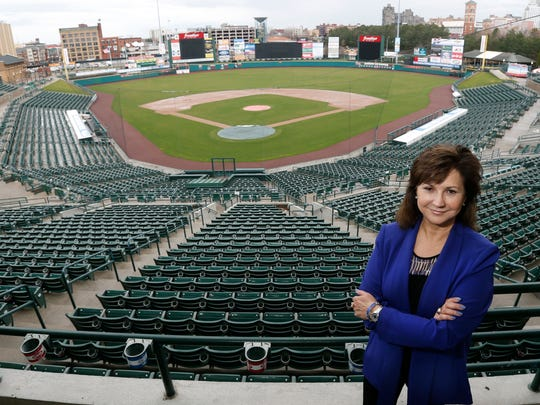Naomi Silver at Frontier Field, home of the Rochester Red Wings. It's the 60th anniversary of the Rochester Red Wings stock sale that saved the team from moving.