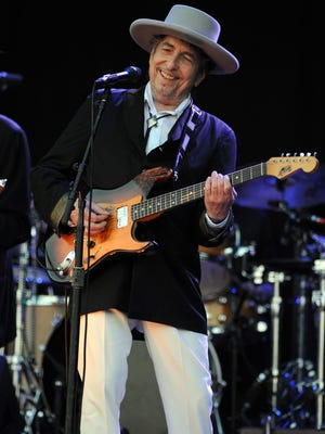 Bob Dylan performs on stage during the 21st edition of the Vieilles Charrues music festival on July 22, 2012 in France.