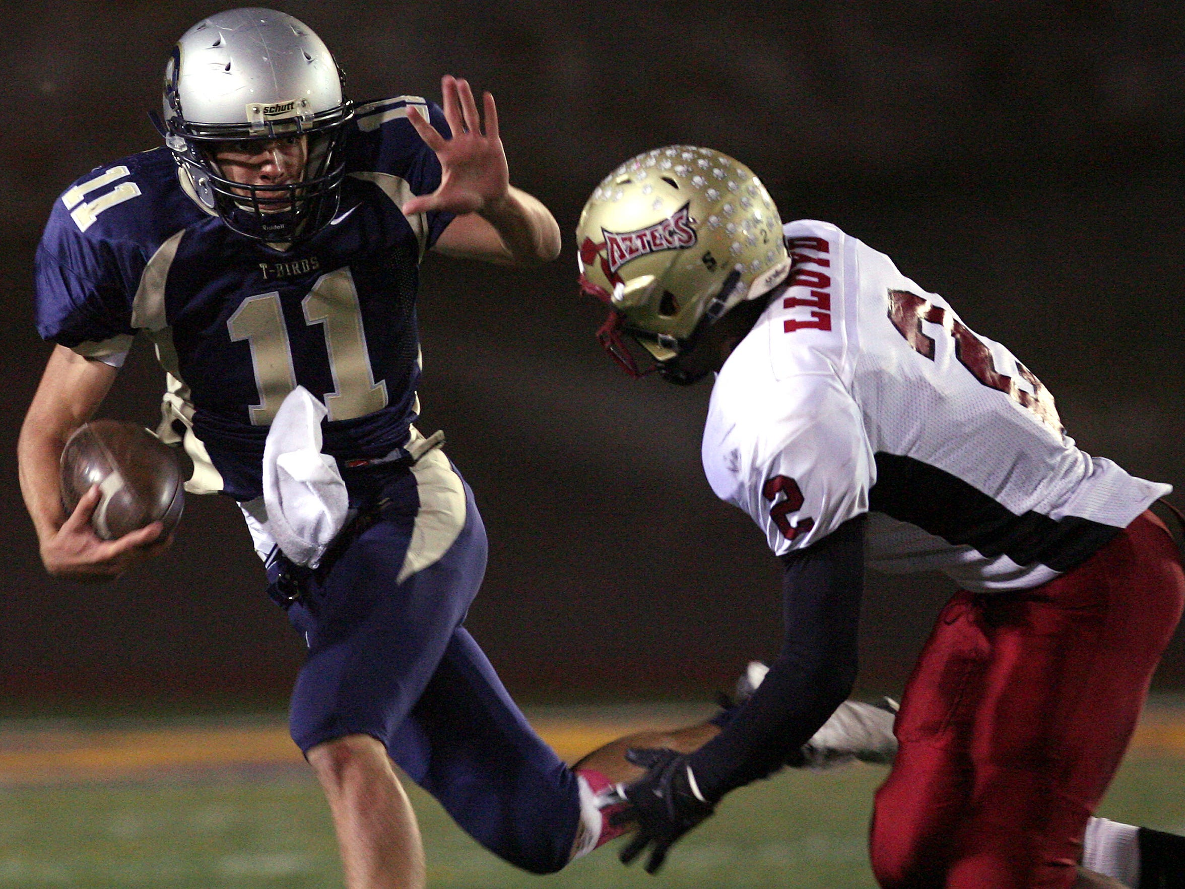 Coronado High School quarterback Cole Freytag carries