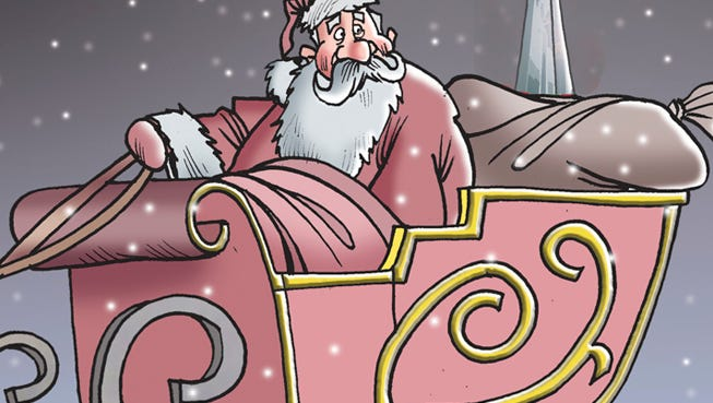 Warm Christmas greetings from the Detroit Free Press.